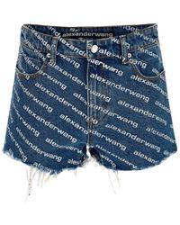Alexander Wang Bite Logo Shorts - Blue