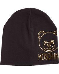 Moschino Teddy Beaded Beanie - Black