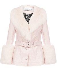 Saks Potts Shorty Belted Jacket - Pink