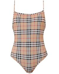 Burberry Vintage Check One-piece Swimsuit - Multicolour