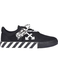 Off-White c/o Virgil Abloh Low Vulcanized Trainers - Black