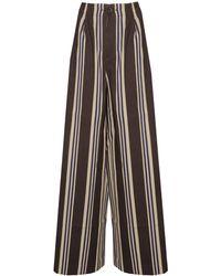 Uma Wang Striped Trousers - Multicolour