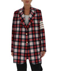 Thom Browne Checked Blazer - Red