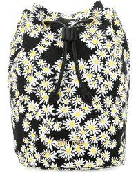 Miu Miu Prada Floral Print Wash Bag - Black