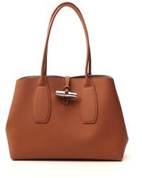 Longchamp Roseau Shoulder Bag - Brown