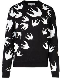 McQ Swallow Print Sweatshirt - Black