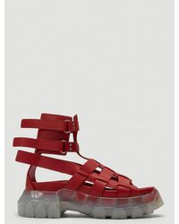 Rick Owens Tractor Sandals - Red
