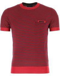 Prada embroidered Silk T-shirt