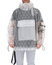 Off-White c/o Virgil Abloh Printed Raincoat - Grey