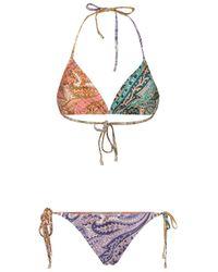 Zimmermann Brighton Mini Tri Bikini - Multicolor
