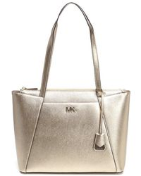 806b1b35a833 Michael Michael Kors Maddie Classic Tote Bag in Black - Lyst