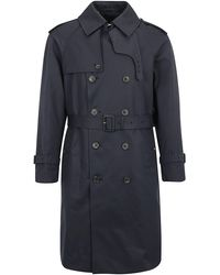Mackintosh Double-breasted Trench Coat - Blue