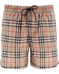 Burberry Vintage Check Drawcord Swim Shorts - Multicolour