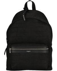 Saint Laurent Embossed City Backpack - Black
