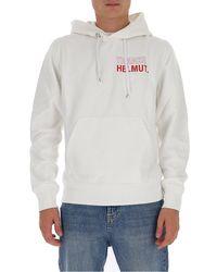 Helmut Lang Thanks Logo Hoodie - White