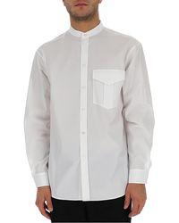 Jil Sander Mandarin Collar Shirt - White