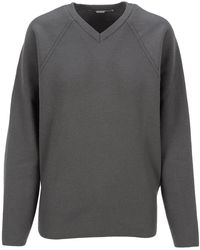 Stella McCartney Oversized V-neck Jumper - Grey