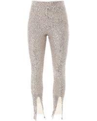 ROTATE BIRGER CHRISTENSEN Alicia Sequinned Trousers - Metallic