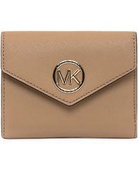 MICHAEL Michael Kors Logo Plaque Foldover Purse - Brown