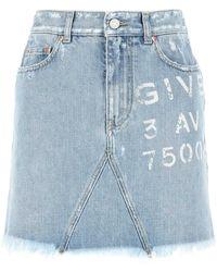 Givenchy Denim Mini Skirt Lightblue 36f