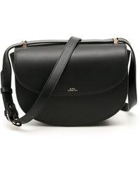 A.P.C. Geneve Crossbody Bag - Black