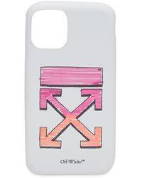 Off-White c/o Virgil Abloh Marker Print Iphone 11 Pro Case - White
