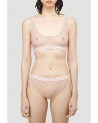 Gucci All Over Logo Lingerie Set - Pink