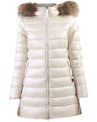 Woolrich Fur Trim Down Jacket - White