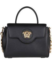 Versace La Medusa Medium Tote Bag - Black