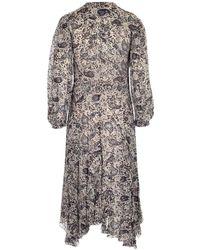 Étoile Isabel Marant Lizete Floral Print Dress - Multicolour