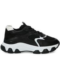 Hogan Women's Shoes Leather Sneakers Sneakers Hyperactive - Black