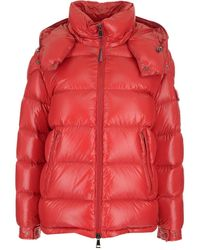 Moncler Quilted Down Jacket - Red