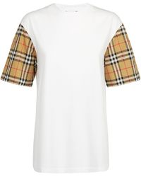 Burberry Vintage Checked Sleeve T-shirt - White