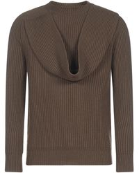 Dior Scarf Detail Jumper - Brown