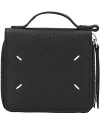Maison Margiela Stitches Top Handle Wallet - Black