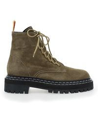 Proenza Schouler Lace-up Combat Boots - Brown