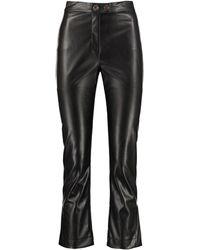 Pinko Torrone Faux Leather Pants - Black