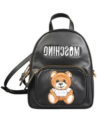 Moschino Inside Out Teddy Backpack - Black