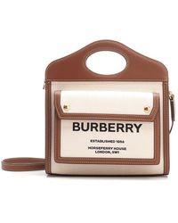 Burberry Pocket Mini Handbag - Natural
