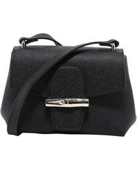 Longchamp Roseau Xs Crossbody Bag - Black