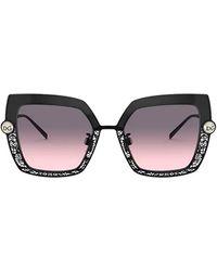 Dolce & Gabbana Oversized Square Frame Sunglasses - Black