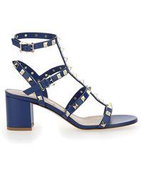 Valentino Garavani Rockstud Sandals - Blue