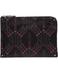 Valentino Men's Briefcase Document Holder Wallet Loveblade - Black