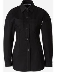 Alexander Wang Slim Fit Denim Shirt - Black