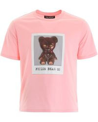 Neil Barrett Fetish Bear Crewneck T-shirt - Pink