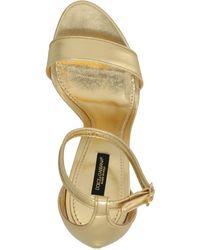 Dolce & Gabbana Baroque Dg Heel Sandals - Metallic