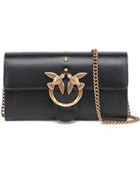 Pinko Mini Love Shoulder Bag - Black