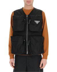 Prada Front Pockets Gillet - Black
