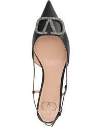 Valentino Garavani Vlogo Ballerinas Shoes - Black