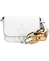 JW Anderson Chain Nano Anchor Crossbody Bag - White